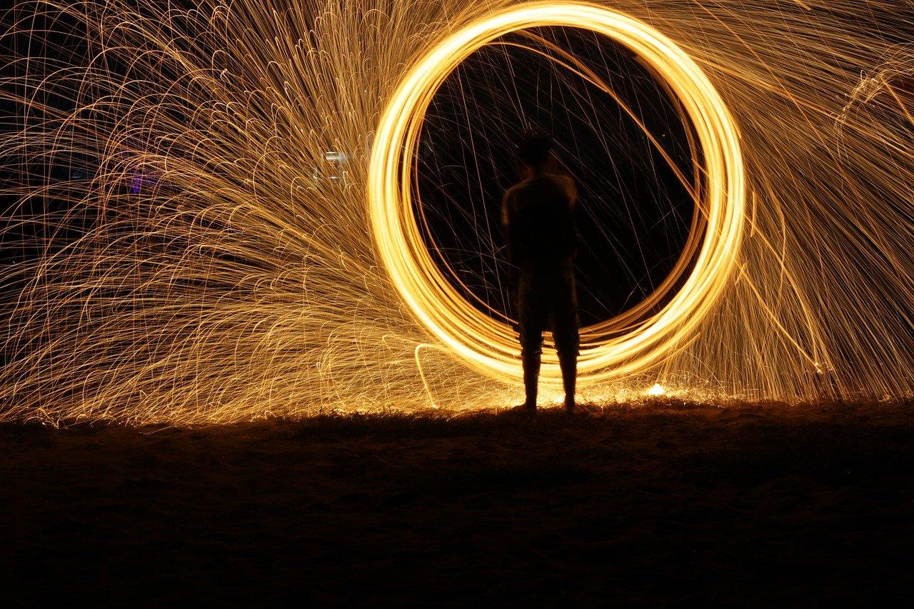 firework, dark, light